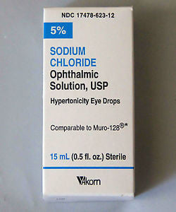 Akorn Sodium Chloride Solution Eye Drops, 15ml - PlanetRx