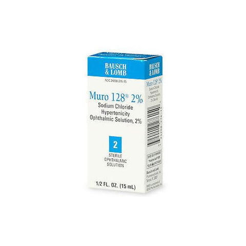 Bausch & Lomb Muro-128 Sterile Ophthalmic 2% Solution, 15 ml