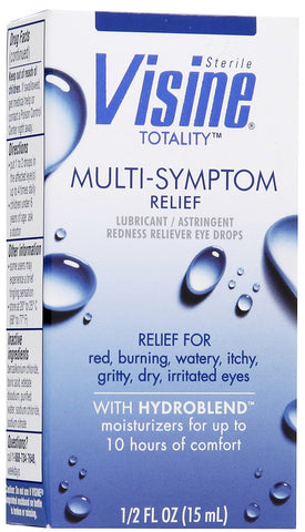 Visine Multi-Symptom Relief Eye Drops, 0.5 oz