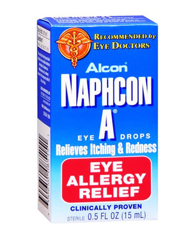 Naphcon-A Eye Allergy Relief Eye Drops, 15 ml