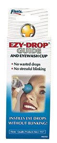 Flents . Ezy Drop Guide & Eye Wash Cup,  Green