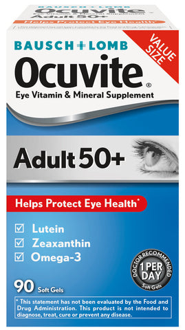Ocuvite Adults 50+ Nutrition Tablets For Eyes, 90 Soft GEls
