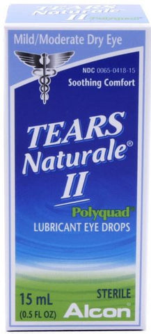 Tears Naturale II Polyquad Lubricant Eye Drops, 15 ml, LIMITED QUANTITY REMAINING