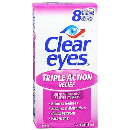 Clear Eyes    Triple Action Relief, 0.5 oz