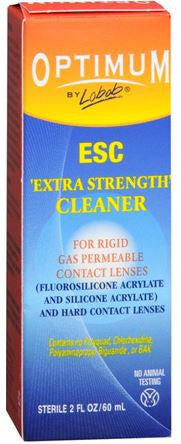 Optimum Extra Strength  Contact   Cleaner  Solution, 2 oz