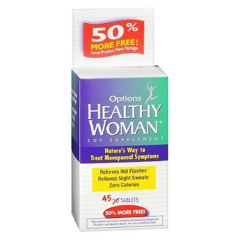 Options Healthy Woman Soy Menopause Supplement, 45 caps