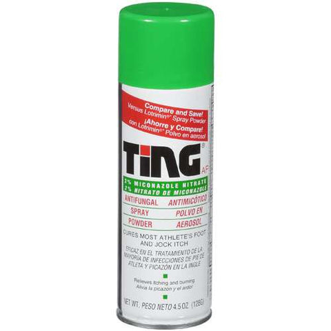 Ting Foot & Jock Itch Antifungal Spray Powder, 4.5 oz