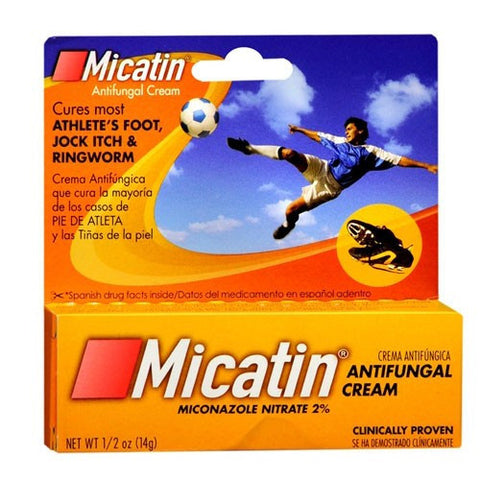 Micatin Anti - Fungal Cream for Athletes Foot, 0.5 oz