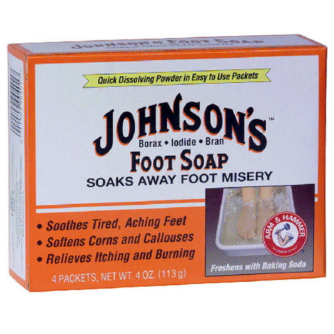 Johnson's Foot Soap Medium 4 Pack, 4 unit