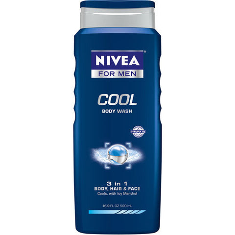 Nivea for Men Body Wash,  Cool, 16.9 oz