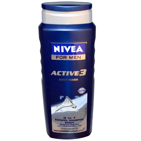 Nivea for Men Active 3, 16.9 oz