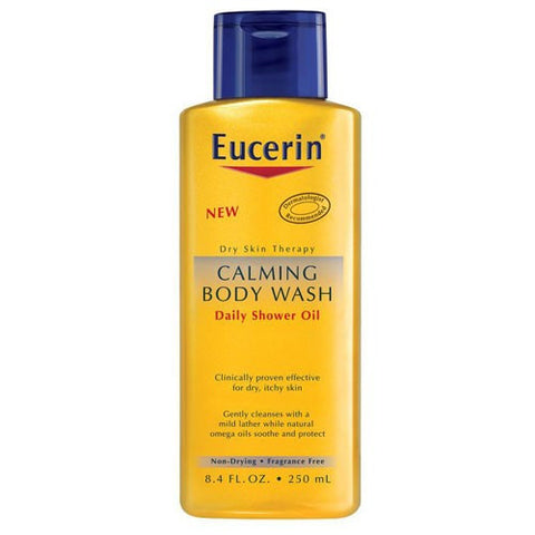 Eucerin Calming Body Wash, 8.4 oz