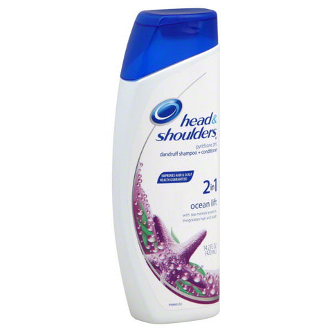 Head and Shoulders 2 in 1 Dandruff Shampoo, Ocean Lift, 14.2 oz