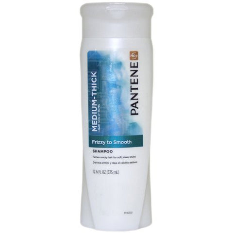 Pantene Medium-Thick Hair Shampoo   Frizzy to Smooth, 12.6 oz