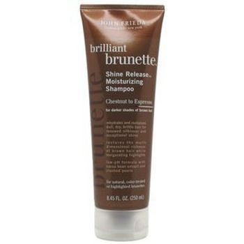 John Frieda Brilliant Brunette Shine Release Moisturizing Shampoo Chestnut to Espresso  8.45 oz