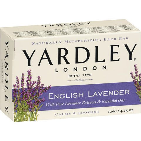 Yardley London Naturally Moisturizing Soap Bar, English Lavender, 4.25 oz