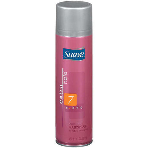 Suave Extra Hairspray, Unscented, 11 oz