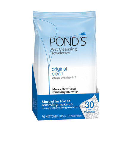 Pond's Clean Sweep Original Clean Wet Cleansing Towelettes, 30 unit