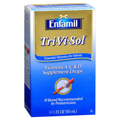 Enfamil Tri-Vi-Sol A D & C Vitamin Supplement Drops For Intants & Toddlers, 50 ml
