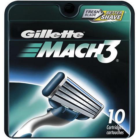 Gillette Mach3 Refill Cartridges, 10 count
