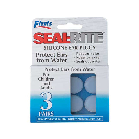 Flents Seal Rite Soft Silicone Ear Plugs,  Clear, 3 ea