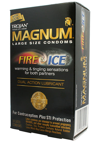 Trojan Magnum Fire & Ice Condoms, 10 pack