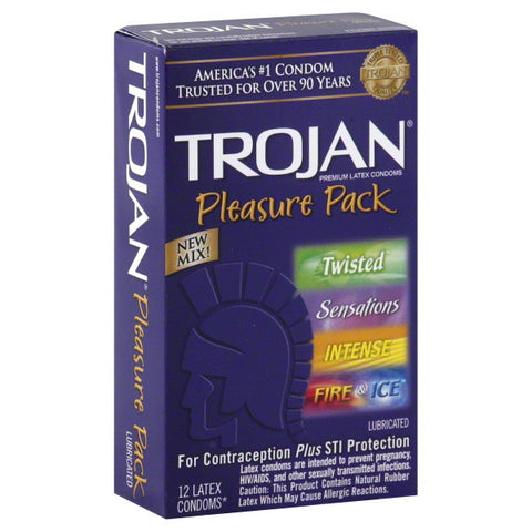 Trojan Pleasure Pack, 12 pack
