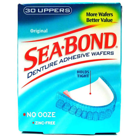 Sea-Bond Adhesive Wafers, Original Uppers, 30 wafers