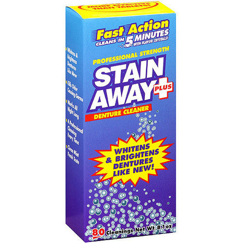 Stain Away, Denture Cleaner 80 Cleanings, 8.1 oz