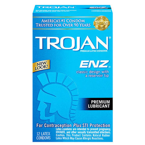 Trojan-Enz Lubricated Condoms, 12 pack