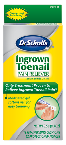 Dr. Scholls Ingrown Toenail Pain Releiver, with 12 Cushions & 12 Bandages