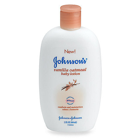 Johnson & Johnson Oatmeal Vanilla Lotion, 15 oz