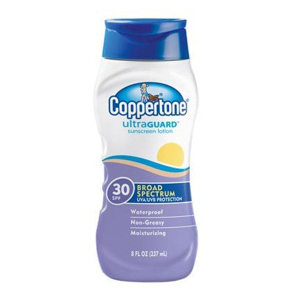 Coppertone Ultra Guard Sunblock Lotion, SPF 30, 8 oz
