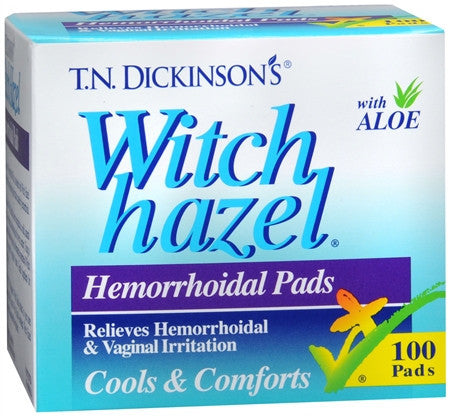 Dickinson's  Hemorrhoidal Pads, 100 count