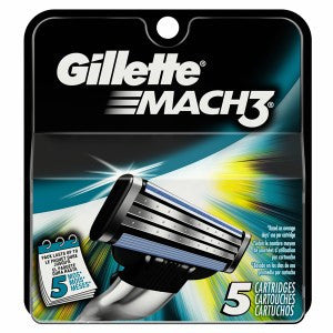 Gillette Mach 3 Cartridge Refills, 5 ea