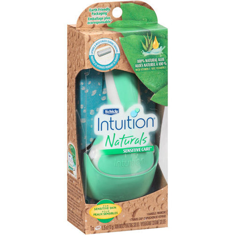 Schick Intuition Naturals Sensation Razor, Sensitive Care, 1 ea