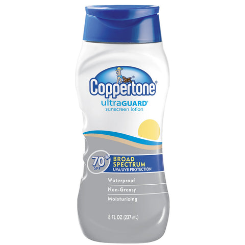 Coppertone Ultra Guard Sunscreen Lotion SPF 70, 8 oz