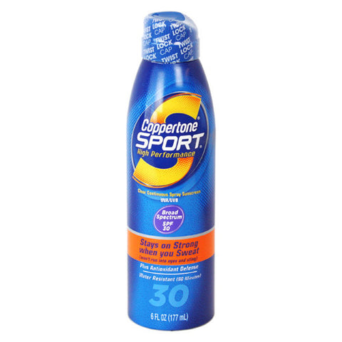 Coppertone Sport Continuous Spray, SPF 30, 6 oz