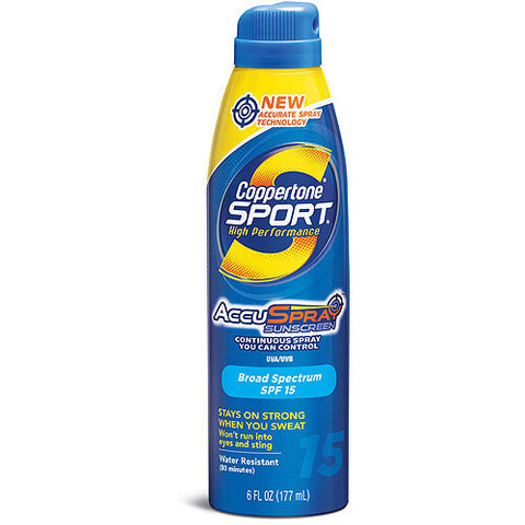 Coppertone Sport Continuous Spray Sunscreen    SPF 15, 6 oz