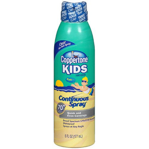 Coppertone Kids Sunscreen Continuous Spray, SPF 70, 6 oz
