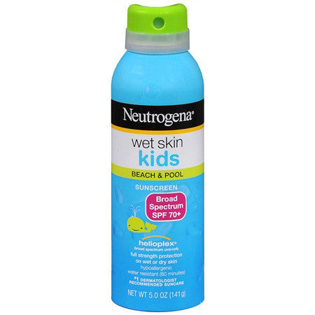 Neutrogena Wet Skin Kids Sunblock Spray, 5 oz