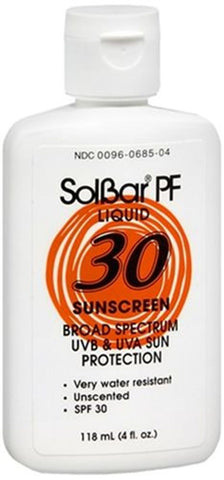 SolBar, PF Sunscreen Liquid SPF 30   Broad-Spectrum  4 oz.