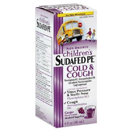 Sudafed Pe Child Cold/Cough, 4 oz