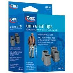 Carex Health Walker Tips Grey,  Size 1-1/8 inches, 4 pack