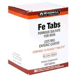 Windmill Health Products Fe Tabs, Enteric Coated Tablets, 325 mg- 300 tab