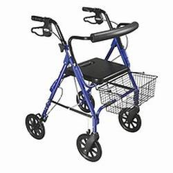 Drive Medical Design D-Lite Aluminum Rollator,  Blue, 1 ea