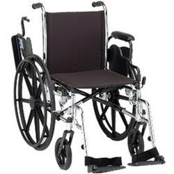 Nova Ortho-Med Wheelchair Lightweight with Removable Flip-BackDesk Arms and Swingaway Footrests,  18 inch seat width, 1 ea