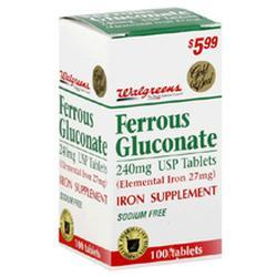 Paddock Laboratories Ferrous Gluconate, 100 tab