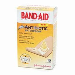 Johnson & Johnson Band-Aid Adhesive Bandages Plus Antibiotic, 15 ea