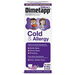 Dimetapp Childrens Cold and Allergy Relief Syrup, Grape Flavor, 4 oz